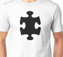 Black puzzle piece Unisex T-Shirt