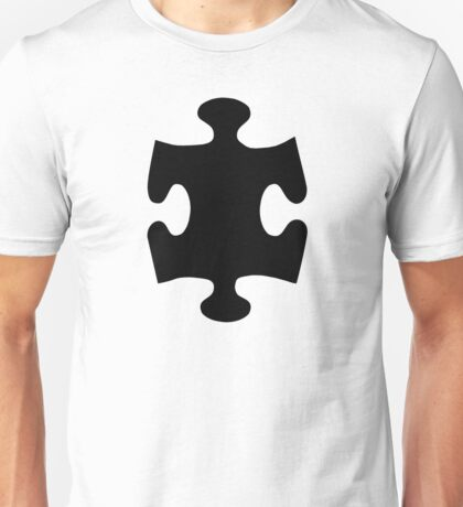 Black puzzle piece Unisex T-Shirt