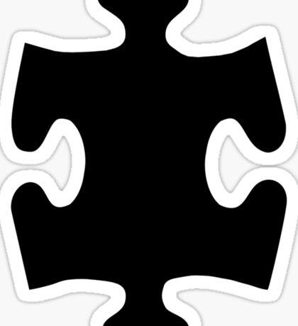 Black puzzle piece Sticker