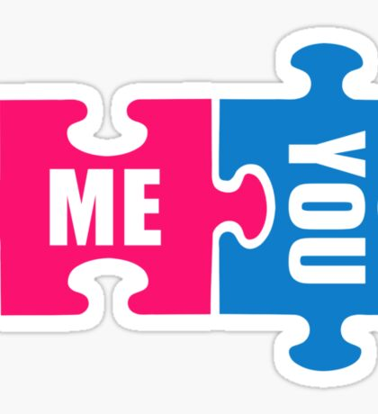 Jigsaw puzzle me and you Sticker
