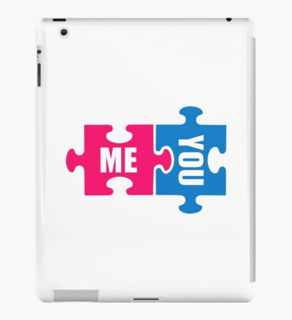 Jigsaw puzzle me and you iPad Case/Skin