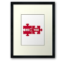 Jigsaw puzzle me you Framed Print