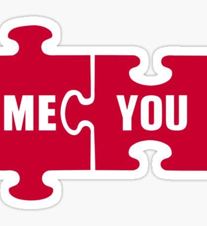 Jigsaw puzzle me you Sticker