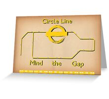Circle Line Greeting Card