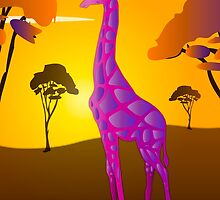 Paper Craft Giraffe by STEELGRAPHICS