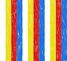 Primary Color Crayon Stripes by atomicblizzard