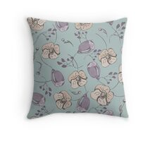 colorful floral pattern elements  Throw Pillow