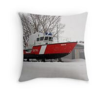 snowed in coast guard Throw Pillow