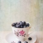 Scratched Blueberries by Nicola  Pearson