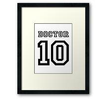 Doctor 10 Jersey Framed Print