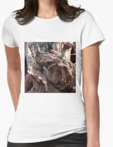 Old Wood Womens Fitted T-Shirt