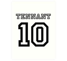 Tennant 10 Jersey Art Print