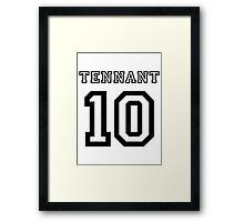 Tennant 10 Jersey Framed Print