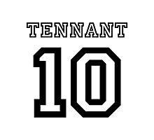 Tennant 10 Jersey Photographic Print