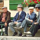 Having a chat in the sunshine... Gruyère. by Marilyn Grimble