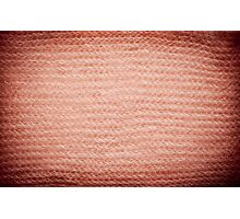 Sepia fuzzy knitted fabric texture Photographic Print