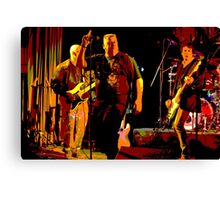 Rock Band on Stage. Canvas Print
