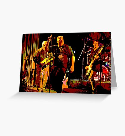 Rock Band on Stage. Greeting Card