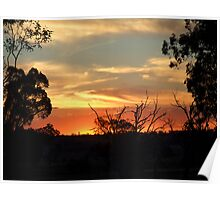 Sunset Silhouettes Poster