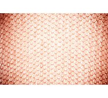 Sepia fluffy knitted fabric texture Photographic Print