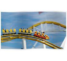 Santa Monica Roller Coaster Poster