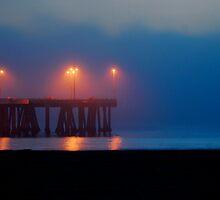 Venice Pier At Night by John Mckinney