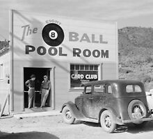 The Eight Ball Pool Room, 1940 by historyphoto