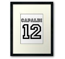 Capaldi 12 Jersey Framed Print