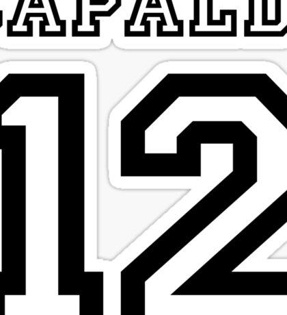 Capaldi 12 Jersey Sticker
