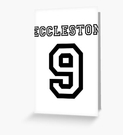 Eccleston 9 Jersey Greeting Card