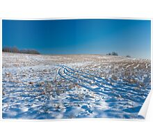 Track in snow filed Poster