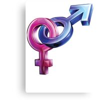 Male to Female Sex Symbols Canvas Print