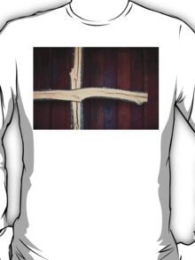 Wooden Christian Cross with Stained Barn Wood T-Shirt