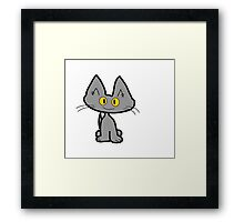 Tom The Gray Cat Framed Print