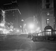 Broadway at Night, 1910 by historyphoto