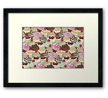 I Love You Cupcakes Framed Print