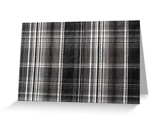Black white checked cotton cloth Greeting Card