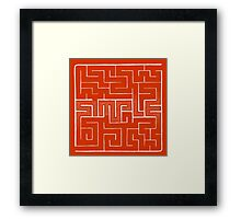 The labyrinth of simple thinking Framed Print