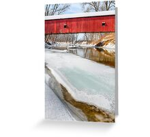 Oakalla Covered Bridge and Snow Greeting Card