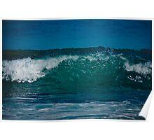 Crystal Aqua Wave Poster