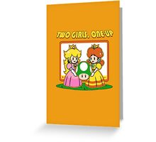 Two Girls One Up Greeting Card