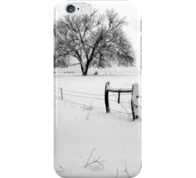 Lonely Tree and Pasture in Deep Snow iPhone Case/Skin