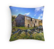 Old barn near Keld Throw Pillow