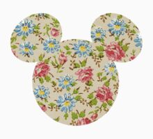 Floral Mouse Ears One Piece - Short Sleeve