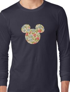Floral Mouse Ears Long Sleeve T-Shirt