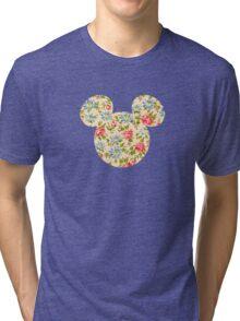 Floral Mouse Ears Tri-blend T-Shirt