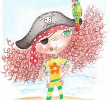 Flossy - the pirate with parrot by Lindsey Davies