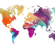 World map watercolor  by JBJart