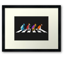 Beetles on Abbey Road ART Framed Print