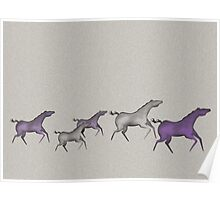 Cave Horses in Purple Poster